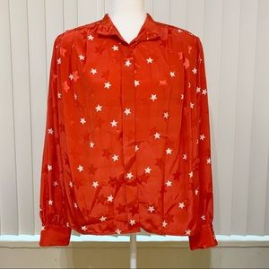 JH Collectible | Red Buttons downs blouse